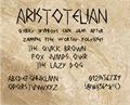 Illustration of font AristotelianNBP