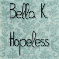 Illustration of font Bella K. Hopeless
