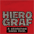Illustration of font Hierograf PERSONAL USE