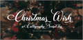 Illustration of font Christmas Wish Calligraphy Call