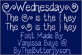 Illustration of font Wednesday