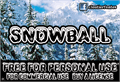 Illustration of font CF SnowBall