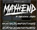 Illustration of font MAYHEND  demo