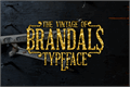 Illustration of font Brandals
