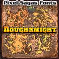 Illustration of font Roughknight
