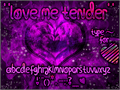 Illustration of font Love Me Tender