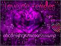 Illustration of font Love Me Tender