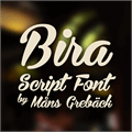 Illustration of font Bira PERSONAL USE ONLY
