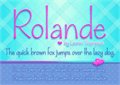 Illustration of font Rolande