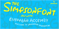 Illustration of font Simpsonfont