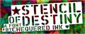 Illustration of font Stencil of Destiny