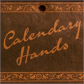 Illustration of font Calendary Hands PERSONAL USE DE