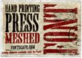 Illustration of font Hand Printing Press Meshed_demo