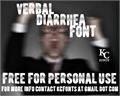 Illustration of font Verbal Diarrhea