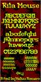 Illustration of font Rita Mouse