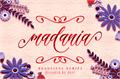 Illustration of font madania script