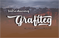 Illustration of font Grafiteg free
