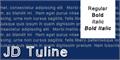Illustration of font JD Tuline
