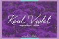 Illustration of font Real Violet Demo