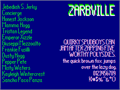 Illustration of font Zarbville NBP