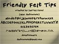 Illustration of font Friendly Felt Tips