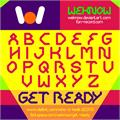 Illustration of font GET READY