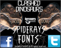 Illustration of font Clash of the Dinosaurs