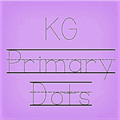 Illustration of font KG Primary Dots