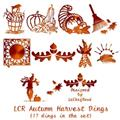 Illustration of font LCR Autumn Harvest Dings
