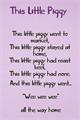 Illustration of font This Little Piggy