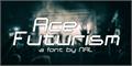 Illustration of font Ace Futurism
