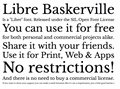 Illustration of font Libre Baskerville