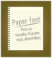 Illustration of font paperfont1