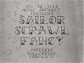 Illustration of font Sailor Scrawl Fancy
