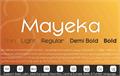 Illustration of font Mayeka Bold Demo