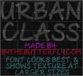 Illustration of font Urban Class
