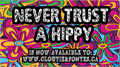 Illustration of font CF Never Trust A Hippy