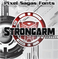 Illustration of font Strongarm