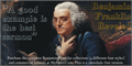 Illustration of font BenjaminFranklin Beveled