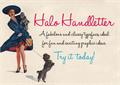 Illustration of font HaloHandletter
