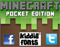 Illustration of font MINECRAFT PE