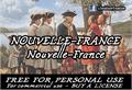 Illustration of font CF Nouvelle France
