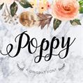 Illustration of font Poppy