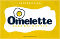 Illustration of font Omelette