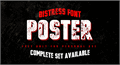 Illustration of font vtks poster