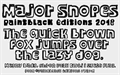 Illustration of font Major Snopes