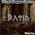 Illustration of font Moria