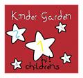 Illustration of font kinder garden