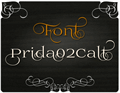 Illustration of font Prida02Calt