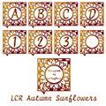 Illustration of font LCR Autumn Sunflowers